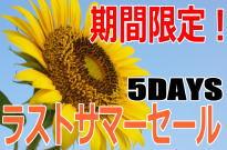 【ラストサマーセール5DAYS】